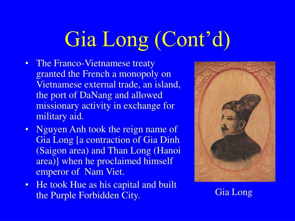 Gia Long (Cont'd)