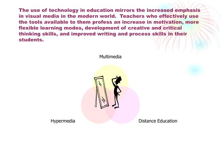 The use of technology in education mirrors the increased emphasis in visual media in the modern worl...