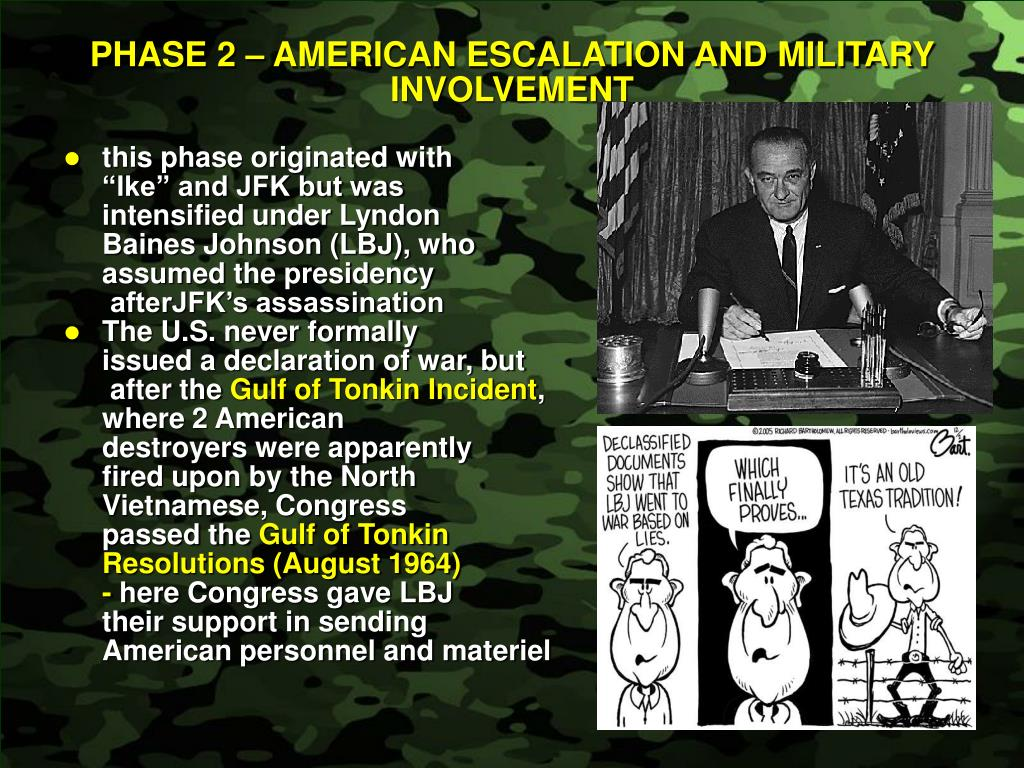 PHASE 2 – AMERICAN ESCALATION AND MILITARY INVOLVEMENT