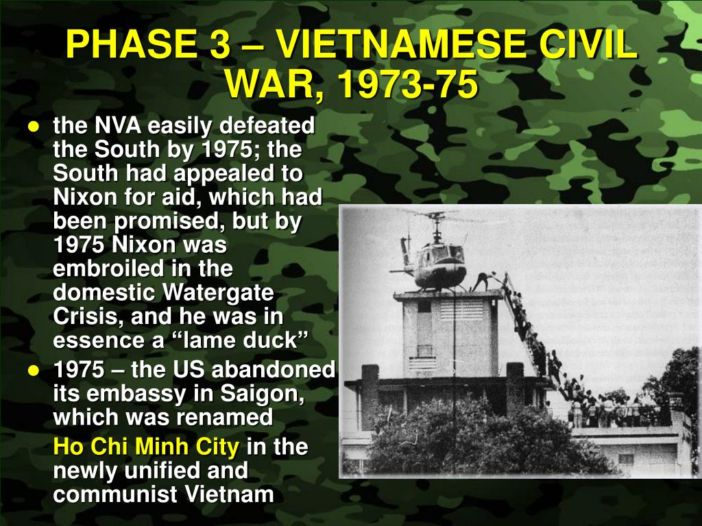 PHASE 3 – VIETNAMESE CIVIL WAR, 1973-75