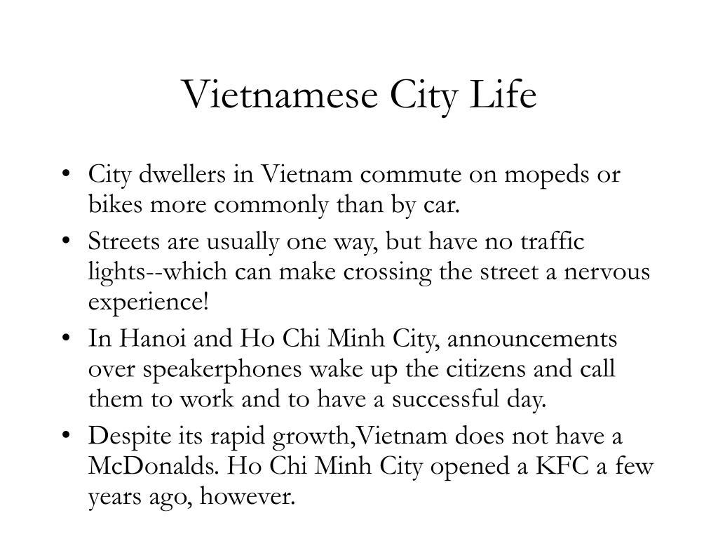 Vietnamese City Life