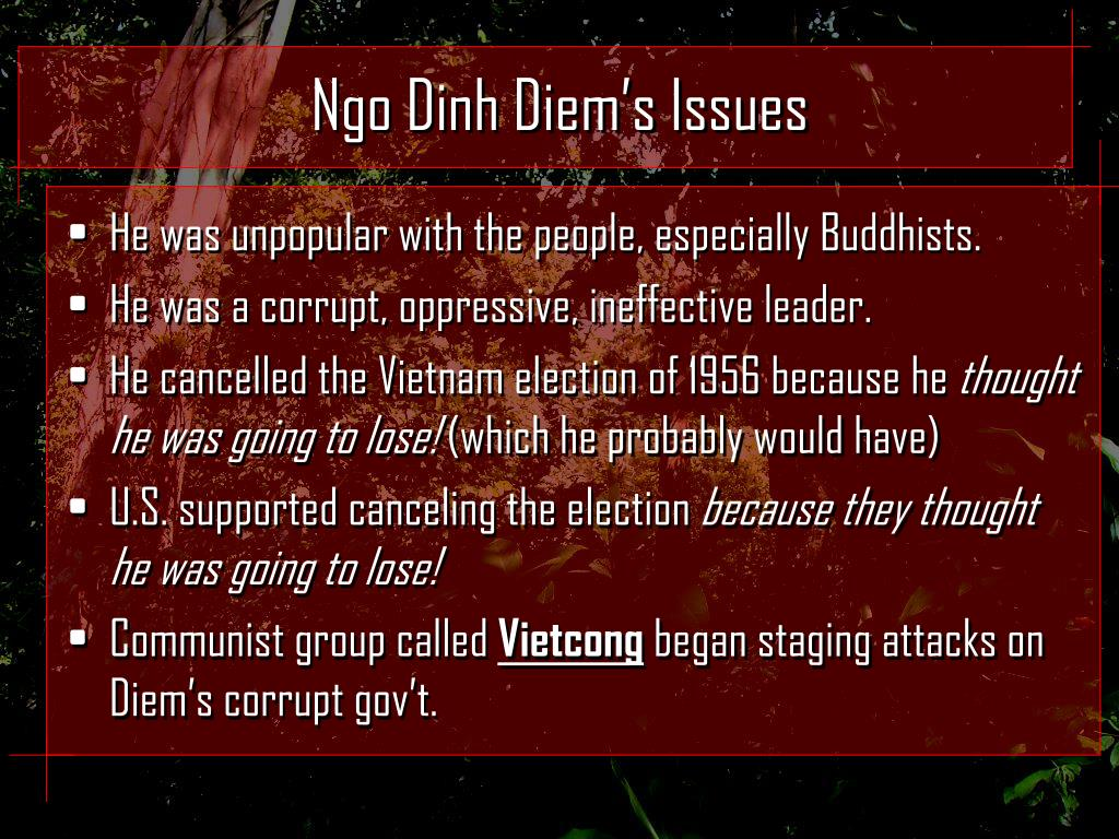Ngo Dinh Diem's Issues