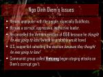 ngo dinh diem s issues