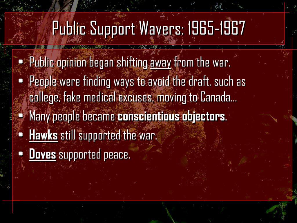 Public Support Wavers: 1965-1967