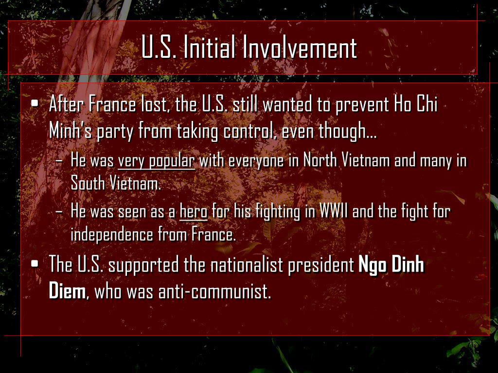 U.S. Initial Involvement