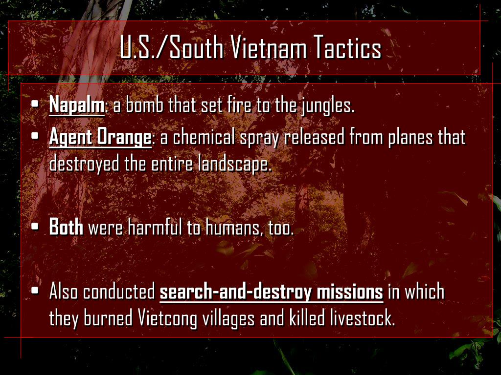 U.S./South Vietnam Tactics