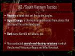 u s south vietnam tactics