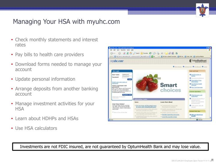 Managing Your HSA with myuhc.com