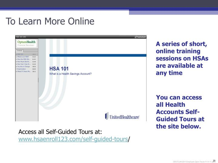 To Learn More Online