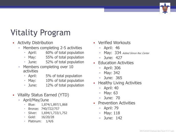 Vitality Program