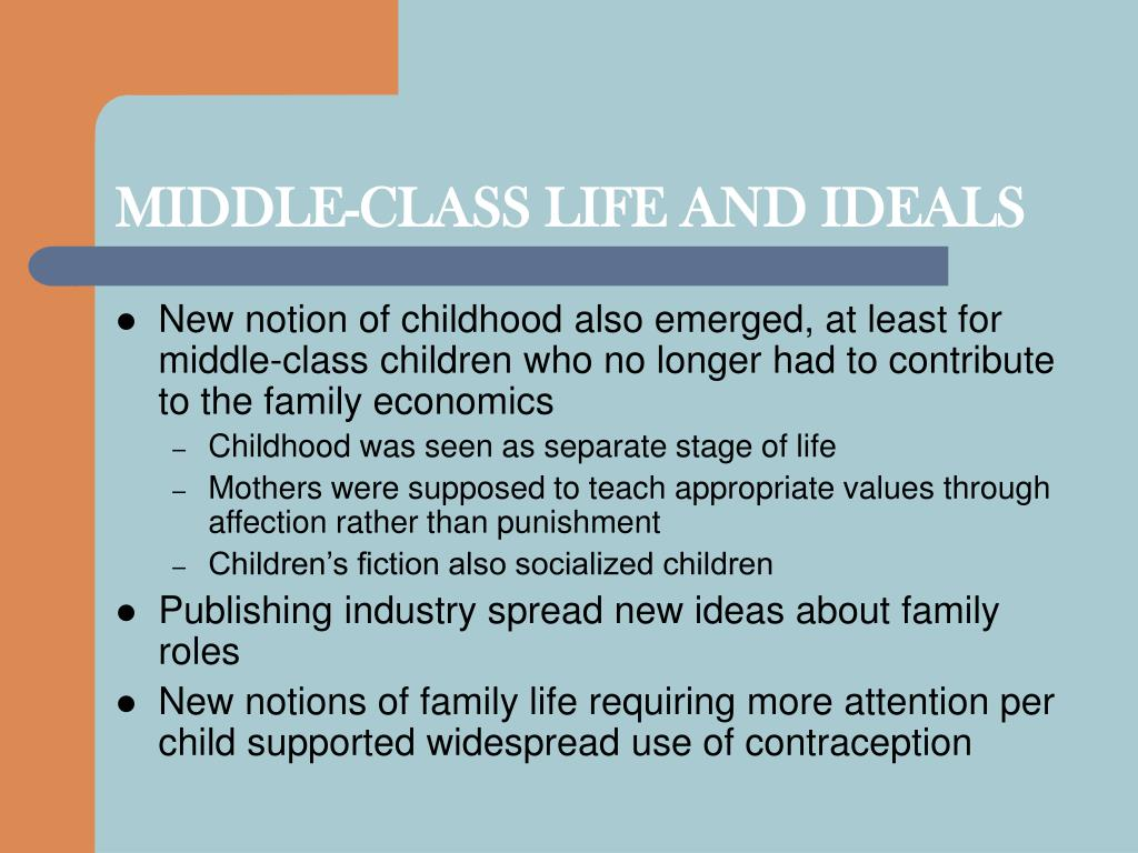 MIDDLE-CLASS LIFE AND IDEALS