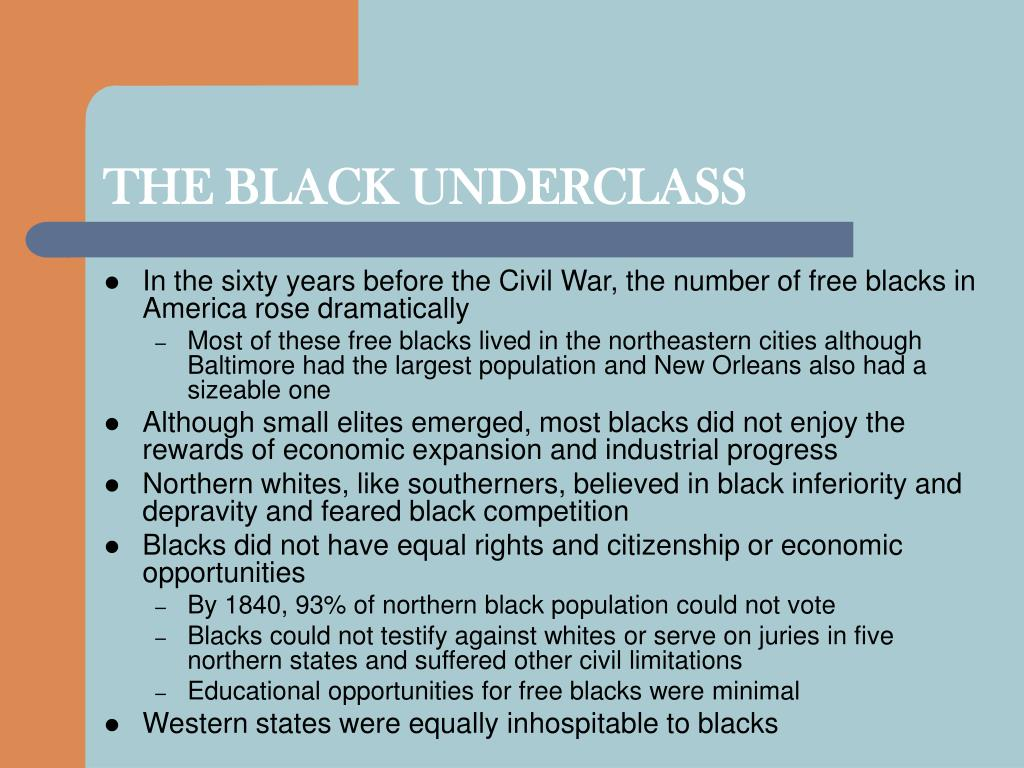 THE BLACK UNDERCLASS