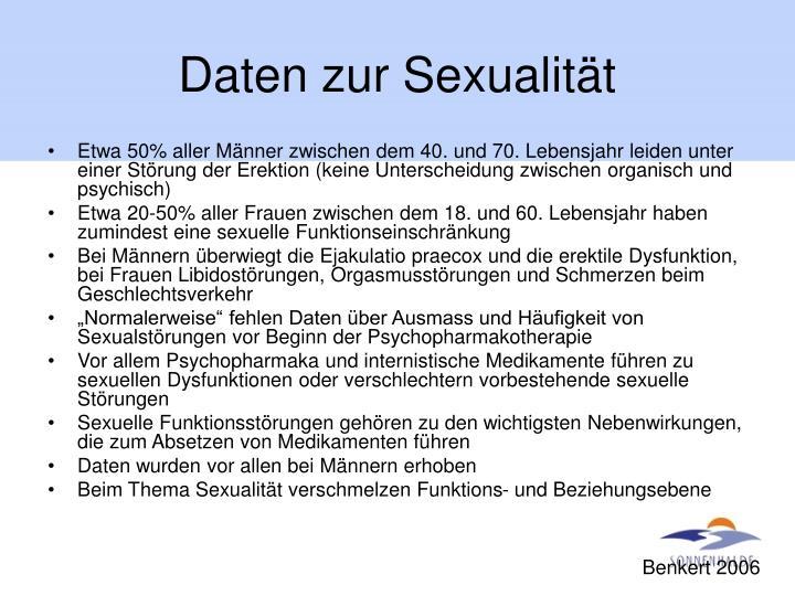 Daten zur Sexualität