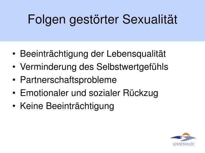 Folgen gestörter Sexualität
