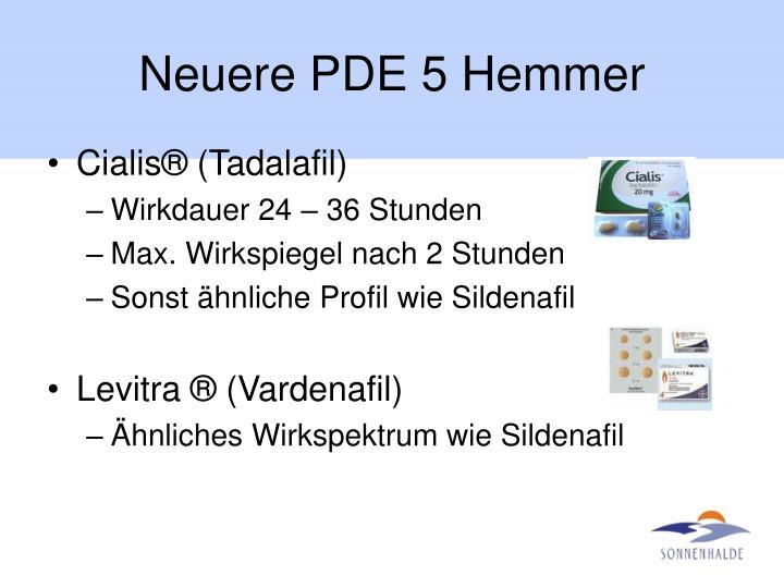 Neuere PDE 5 Hemmer