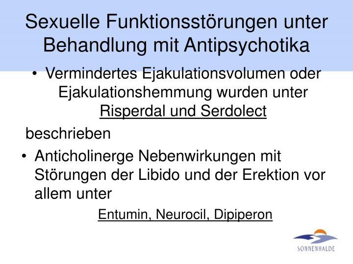 Sexuelle Funktionsstörungen unter Behandlung mit Antipsychotika