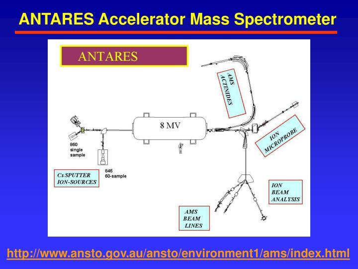 ANTARES Accelerator Mass Spectrometer