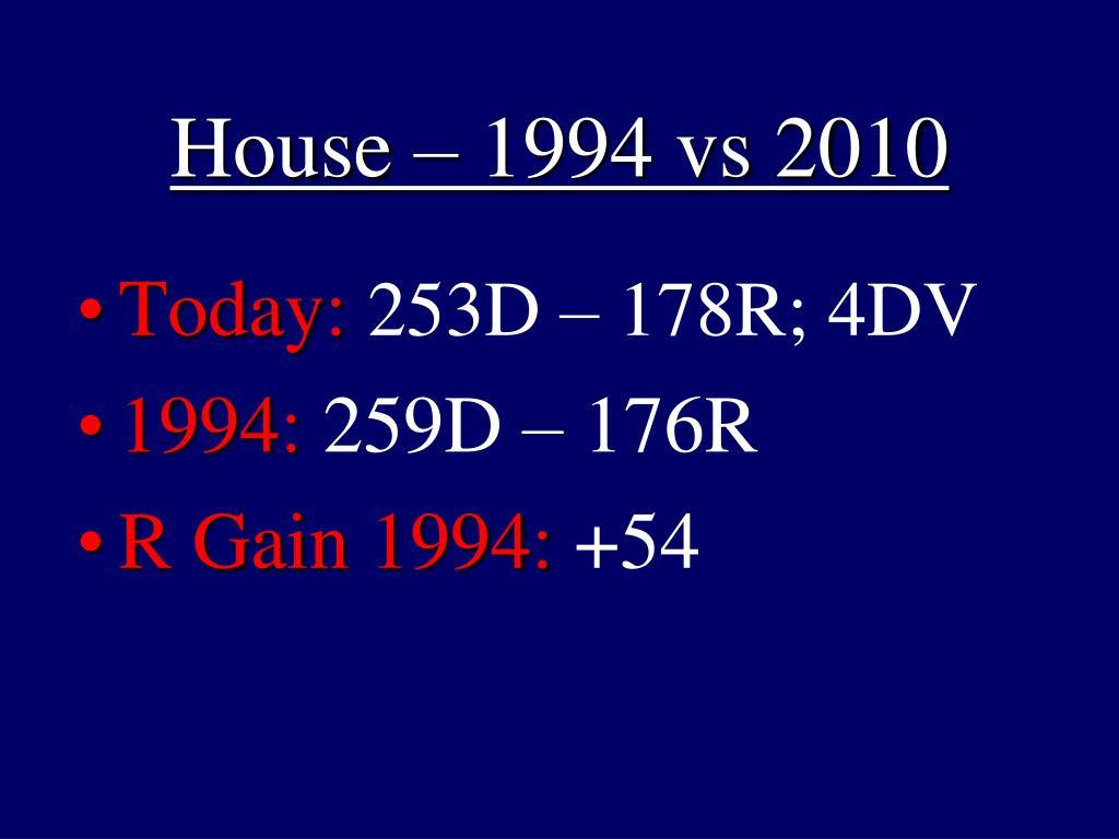 House – 1994 vs 2010