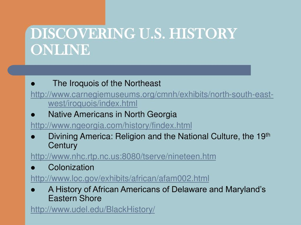 DISCOVERING U.S. HISTORY ONLINE