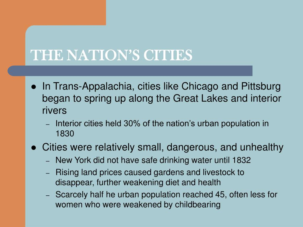 THE NATION'S CITIES