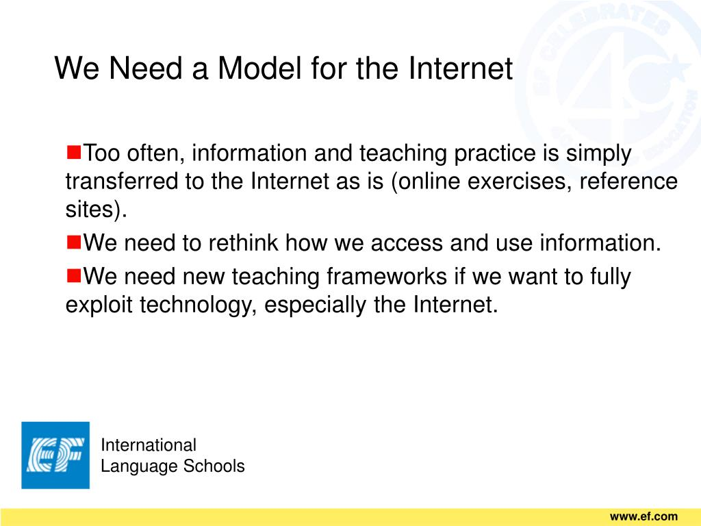 We Need a Model for the Internet