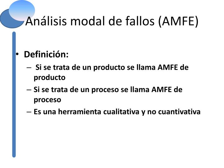 Análisis modal de fallos (AMFE)