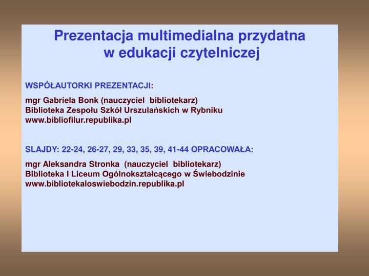 Prezentacja multimedialna przydatna