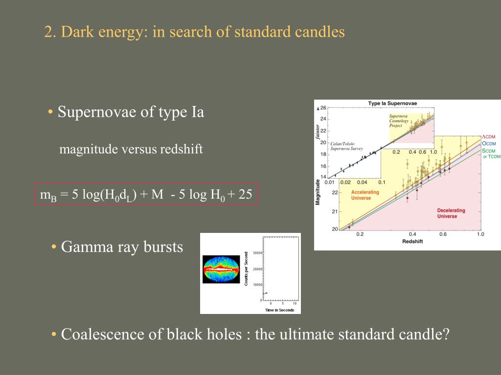 2. Dark energy: in search of standard candles