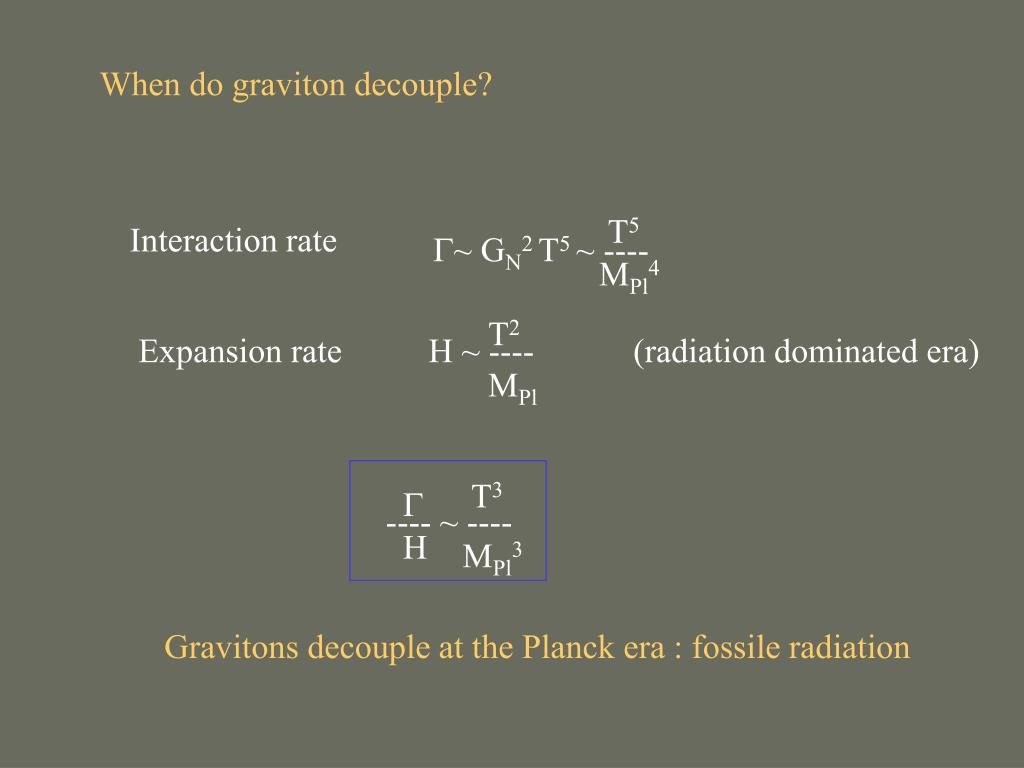 When do graviton decouple?