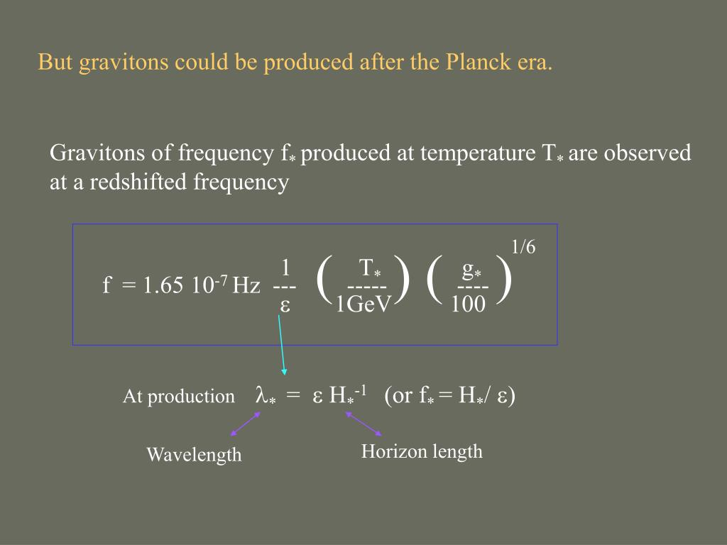 But gravitons could be produced after the Planck era.