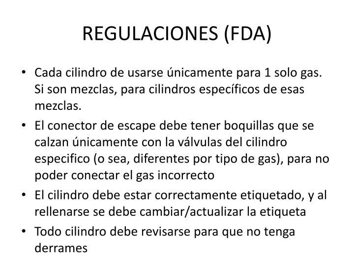 REGULACIONES (FDA)