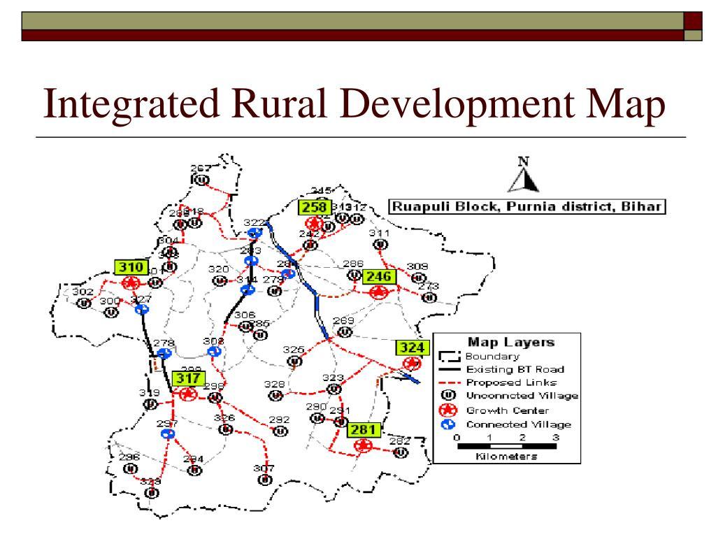 Integrated Rural Development Map