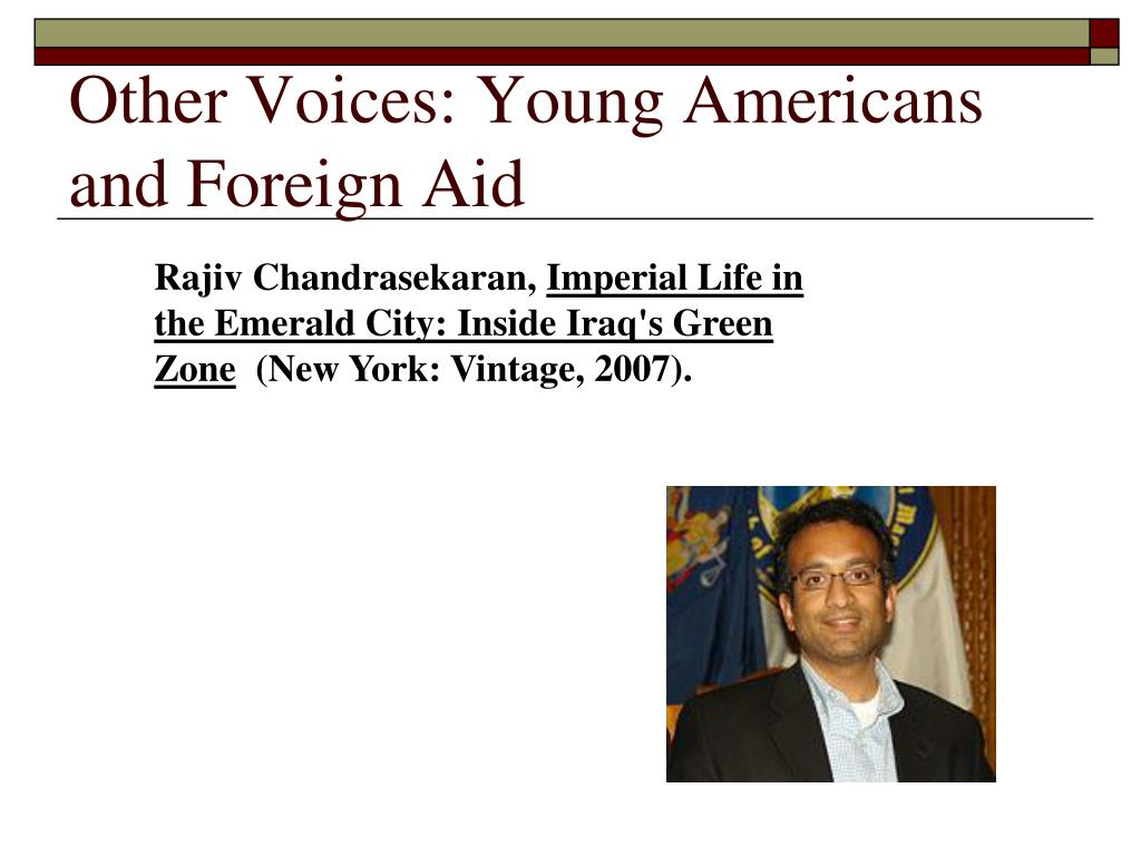 Other Voices: Young Americans and Foreign Aid
