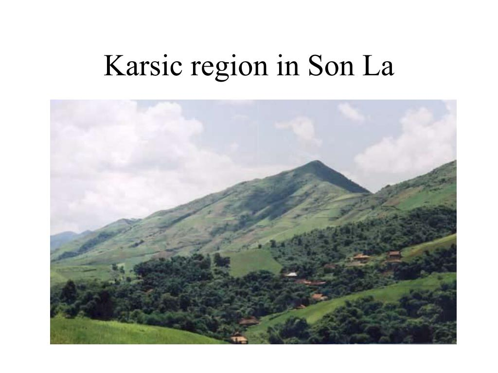 Karsic region in Son La