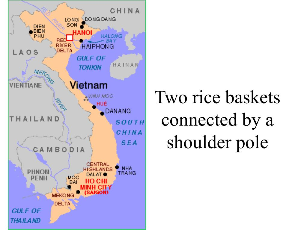 Two rice baskets connected by a shoulder pole