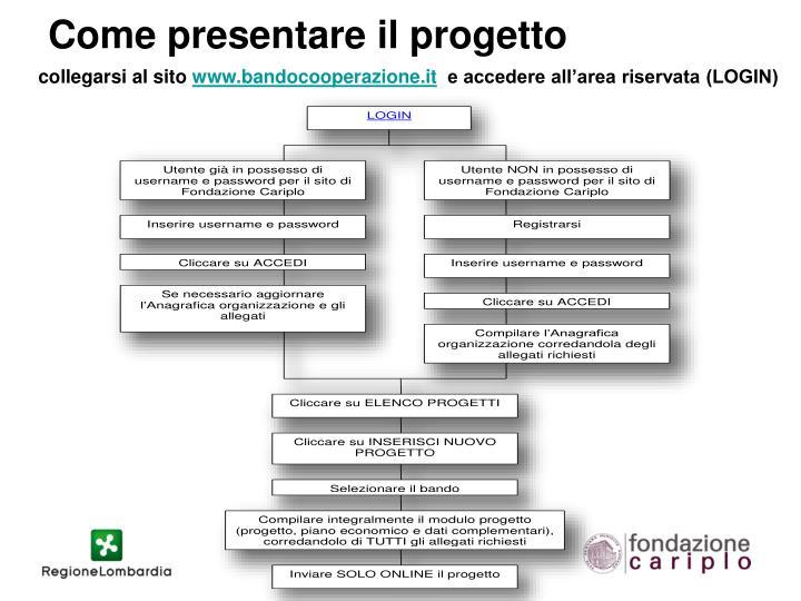 Come presentare il progetto