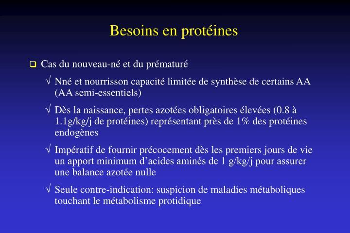 Besoins en protéines