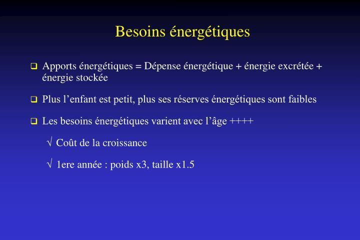 Besoins énergétiques