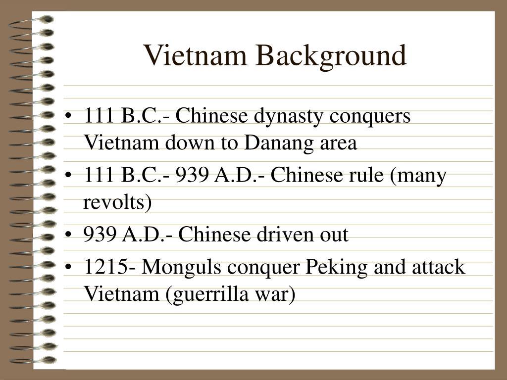 Vietnam Background