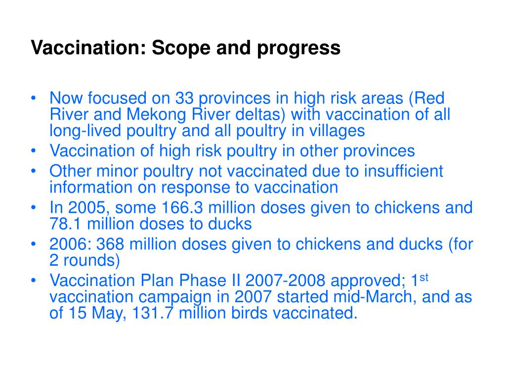 Vaccination: Scope and progress