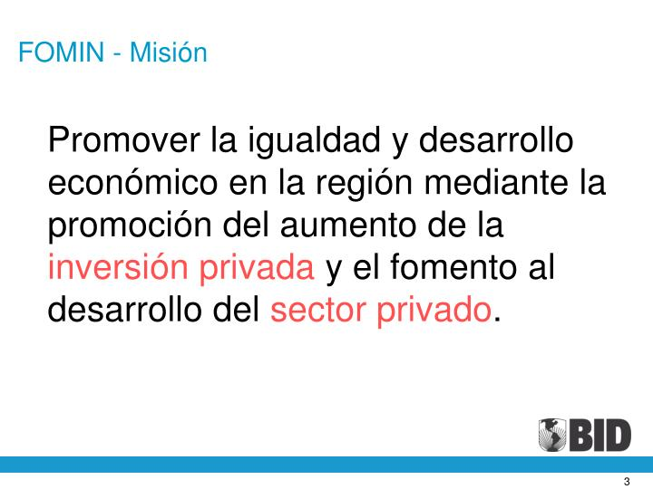 FOMIN - Misión