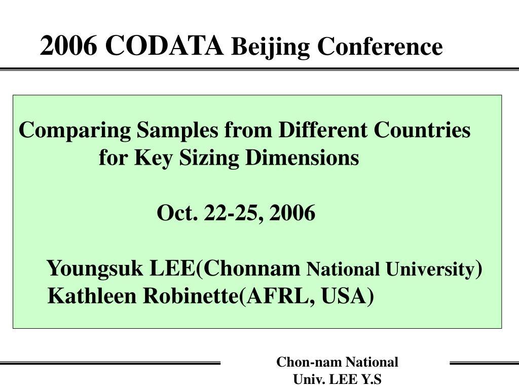 2006 codata beijing conference