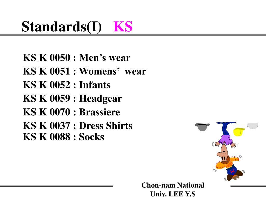 KS K 0050 : Men's wear