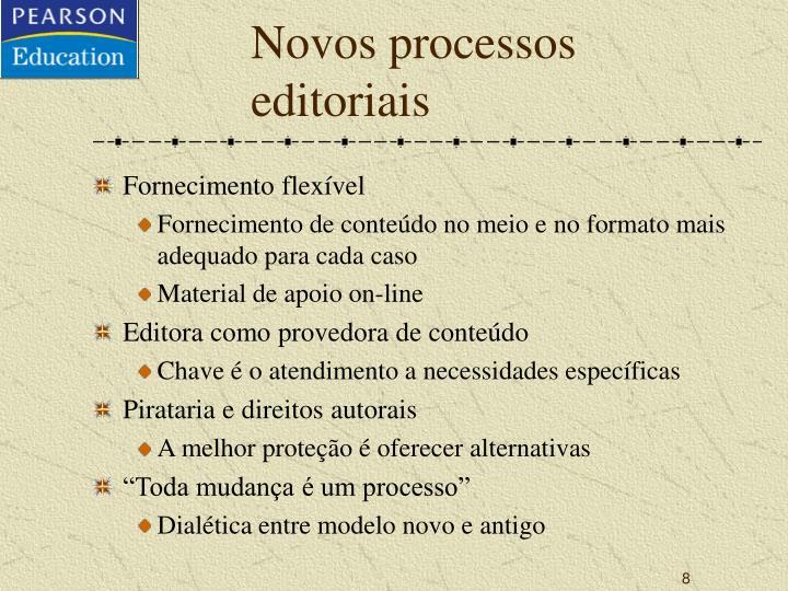 Novos processos editoriais