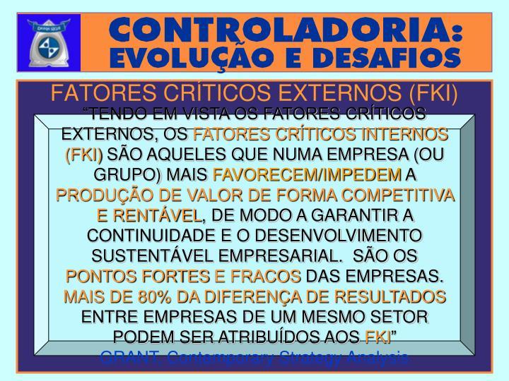 FATORES CRÍTICOS EXTERNOS (FKI)