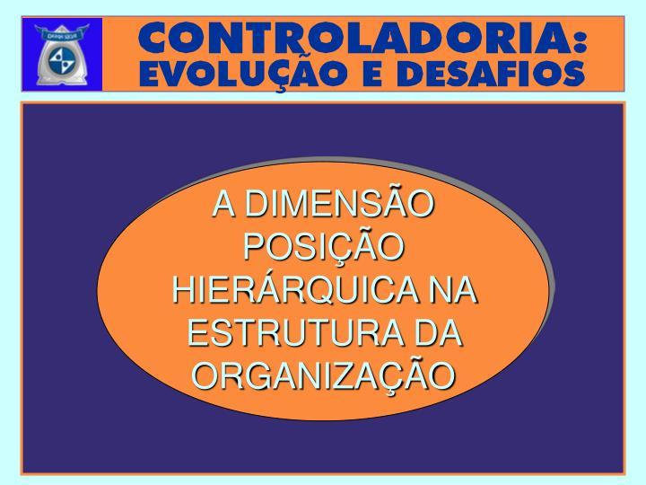 A DIMENSÃO POSIÇÃO HIERÁRQUICA NA ESTRUTURA DA ORGANIZAÇÃO