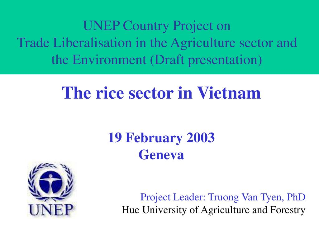 UNEP Country Project on