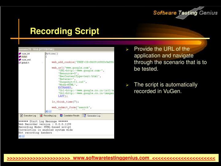 Recording Script