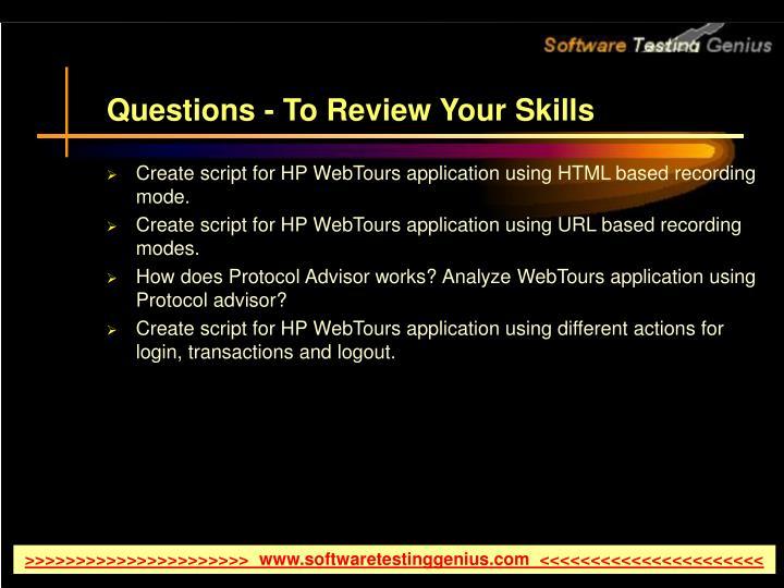 Create script for HP WebTours application using HTML based recording mode.