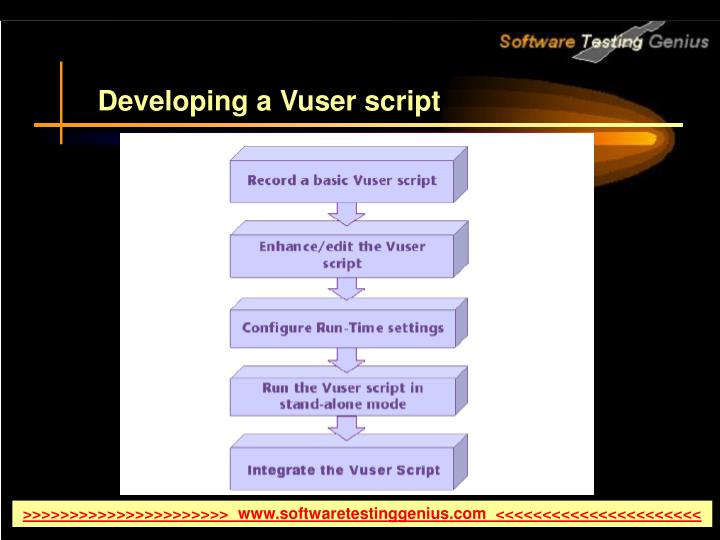 Developing a Vuser script